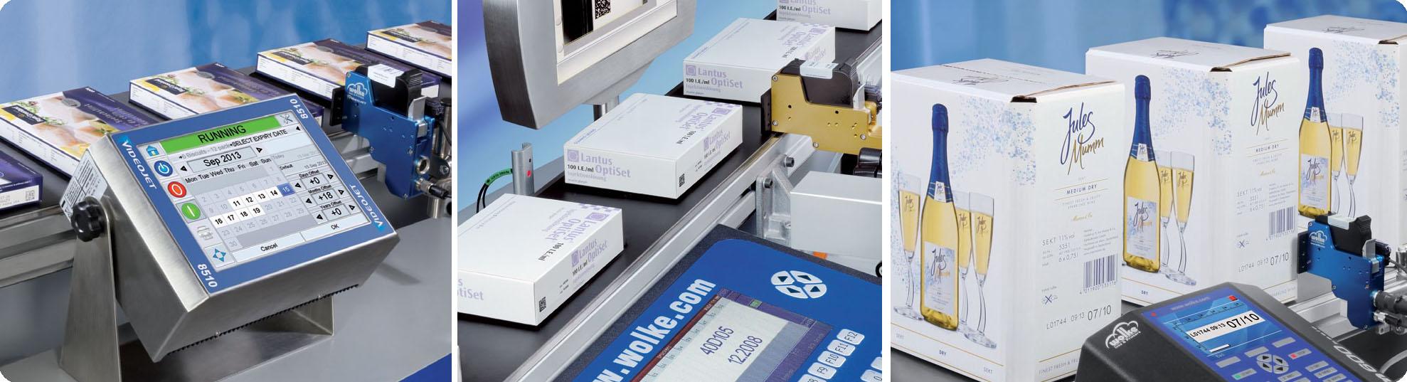Märkningssystem med industriell termisk bläckstråleskrivare TIJ-skrivare