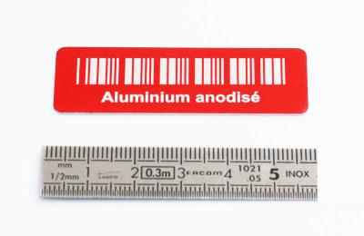 marquage aluminium anodisé