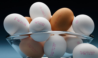 Variable data printing on Eggs
