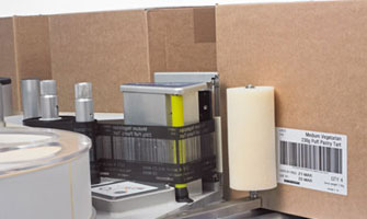 9550 Labeller Printing Track and Trace Barcode onto Cartons