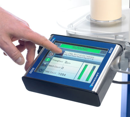 Touch Screen Interface of Videojet Label Printer