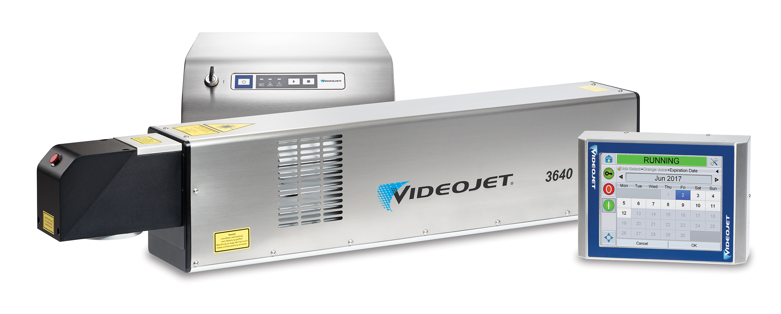 Videojet-3640-left-controller-screen