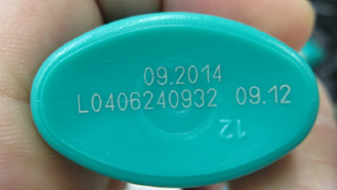 UV laser marking on PE container