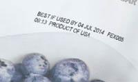 Термоструйная маркировка замороженных продуктов оборудованием Videojet