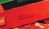 Маркировка термоструйным маркиратором на первичной картонной упаковке