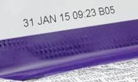 Термоструйный принтер маркирует шов первичной гибкой упаковки