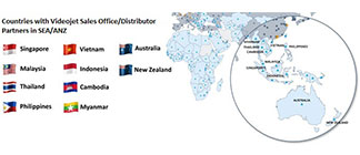 VIDEOJET PRESENCE IN SEA-ANZ COUNTRIES