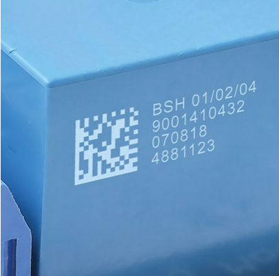 Laser Marking 2D Code and Text