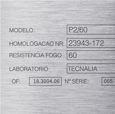 Laser Marking Specification Plate
