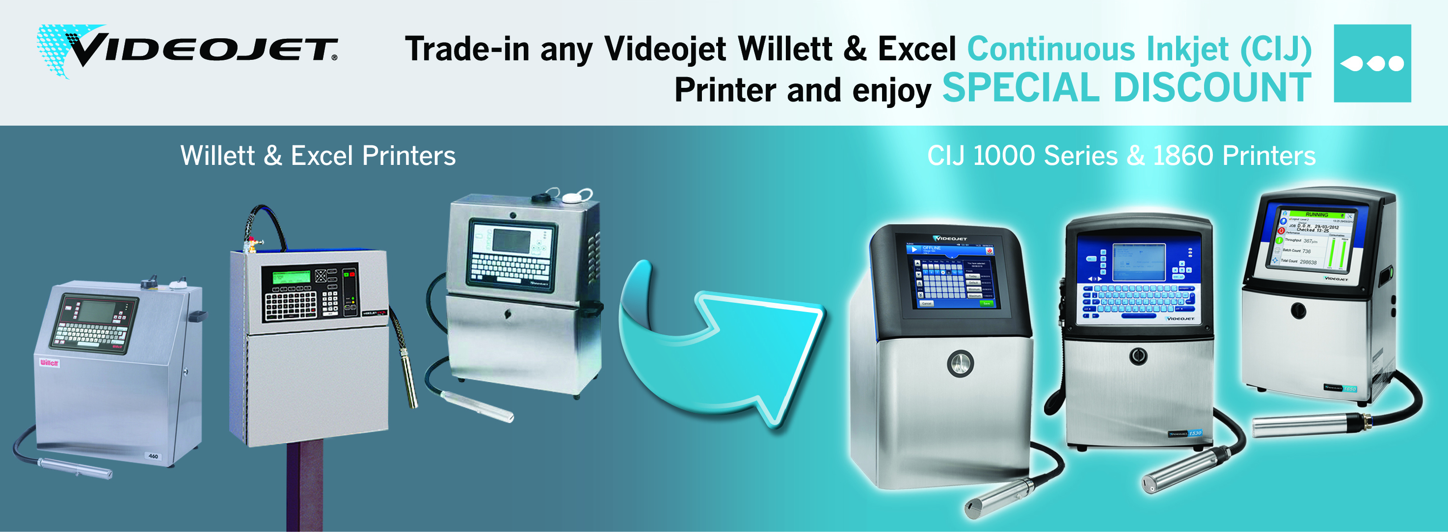 Continuous Inkjet Printer Trade-in Offer