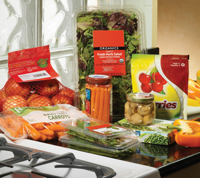 Printing product details on Vegetables packets