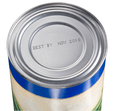 Videojet 1620 CIJ Code on Metal Canned Food