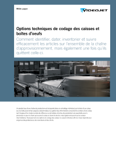 Exemple Application Videojet Marquage Carton